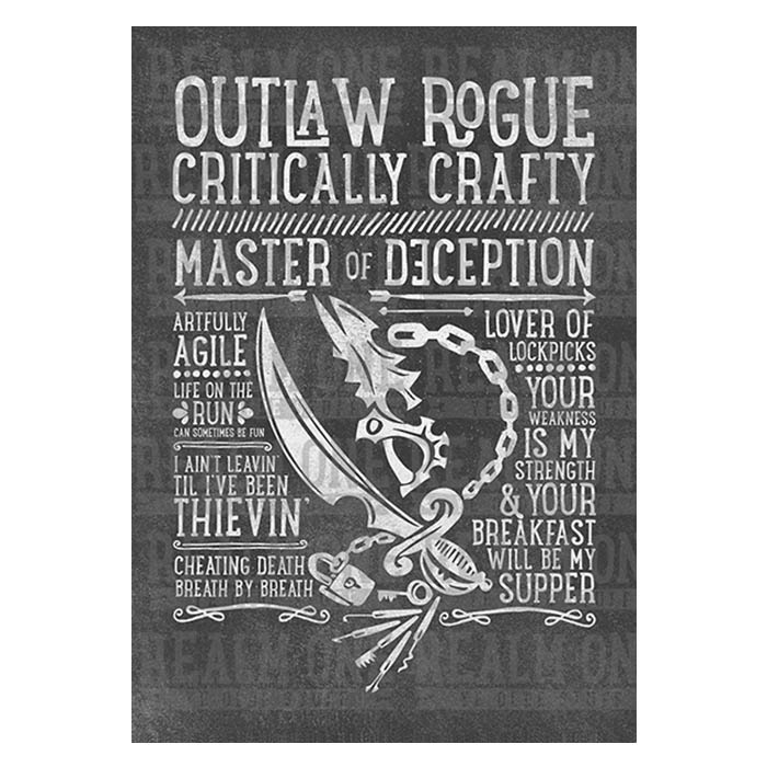 616e9b9b1e9a Outlaw Rogue Class Spec T-shirt - Realm One