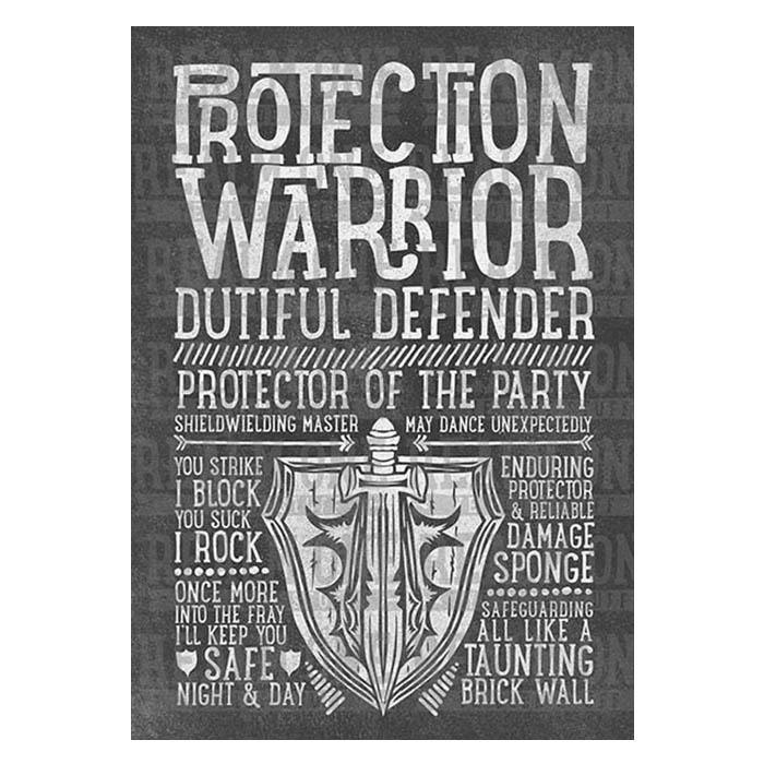 Protection Warrior Class Spec Art Print
