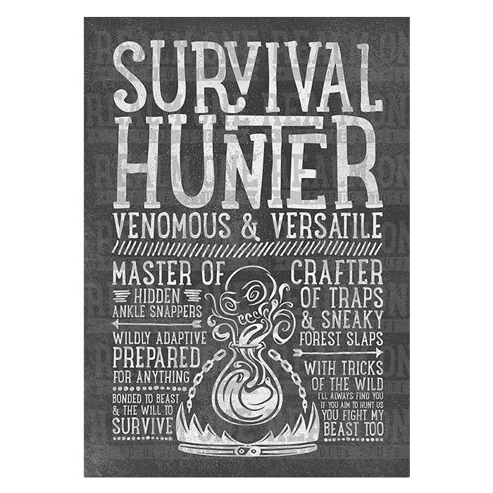 Survival Hunter Class Spec T-shirt - Realm One